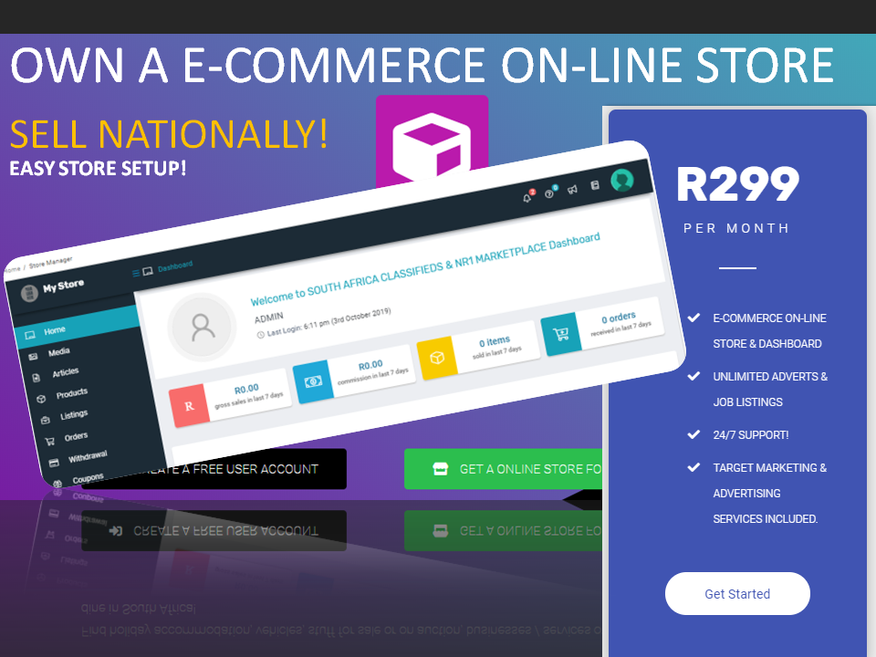 OWN A E-COMMERCE STORE